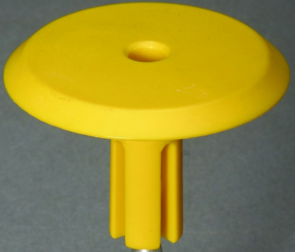 """Kunststoffkappe für 1/2""""-Rohre, gelb"""