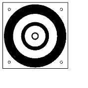 Zielmarke, kreisrunde Ätzung