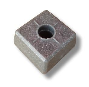 DuoBloc-Abschlußkopf, granit-grau*