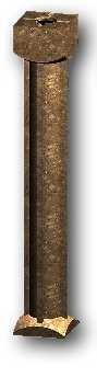 Grenzstein aus Polyesterbeton, 60 cm