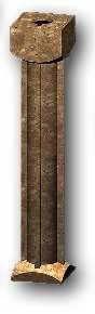 Grenzstein aus Polyesterbeton, 50 cm